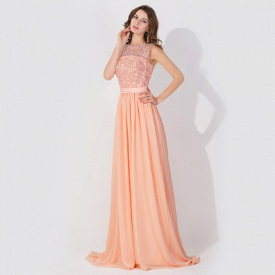 Cheap A-line Chiffon Bridesmaid Dress Tulle Lace Ruffles in Stock_5