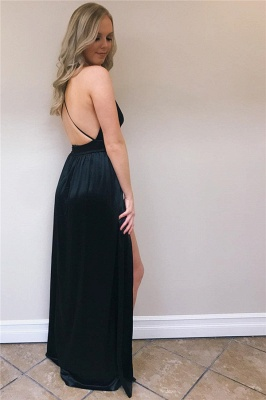 Sexy Spaghetti-Straps A-Line Backless Prom Dresses_4