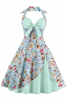 Brilliant Halter Sexy Flowers Fashion Dresses | Bow Women's Dresses_6