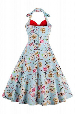 Brilliant Halter Sexy Flowers Fashion Dresses | Bow Women's Dresses_8