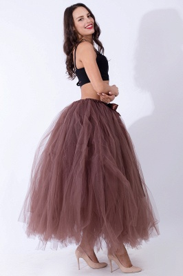 Fascinating Tulle Floor-Length Ball-Gown Skirts | Elastic Women's Skirts_8