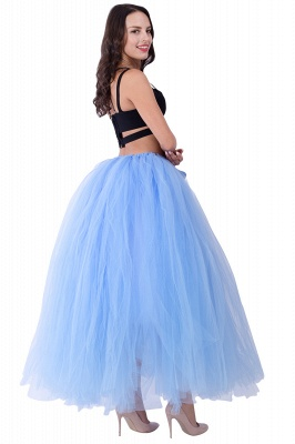 Fascinating Tulle Floor-Length Ball-Gown Skirts | Elastic Women's Skirts_18
