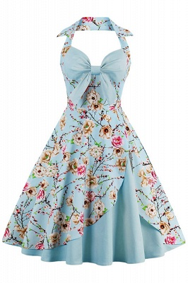 Brilliant Halter Sexy Flowers Fashion Dresses | Bow Women's Dresses_5