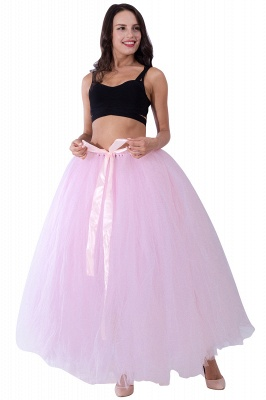 Fascinating Tulle Floor-Length Ball-Gown Skirts | Elastic Women's Skirts_3