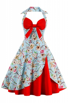 Brilliant Halter Sexy Flowers Fashion Dresses | Bow Women's Dresses_4