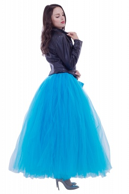 Fascinating Tulle Floor-Length Ball-Gown Skirts | Elastic Women's Skirts_11