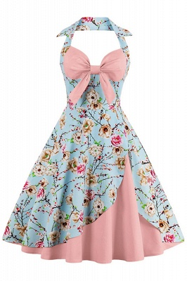 Brilliant Halter Sexy Flowers Fashion Dresses | Bow Women's Dresses_2