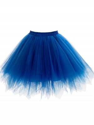 A-line Tulle Short Mini Skirts Elastic Women's Skirts