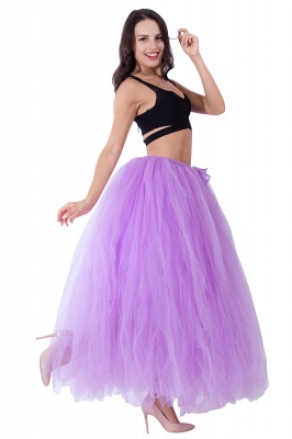 Fascinating Tulle Floor-Length Ball-Gown Skirts | Elastic Women's Skirts_9