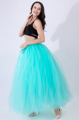 Fascinating Tulle Floor-Length Ball-Gown Skirts | Elastic Women's Skirts_23