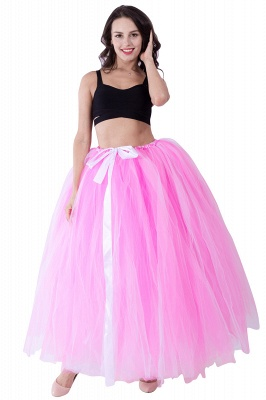 Fascinating Tulle Floor-Length Ball-Gown Skirts | Elastic Women's Skirts_2