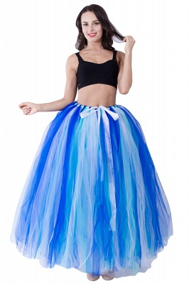 Fascinating Tulle Floor-Length Ball-Gown Skirts | Elastic Women's Skirts_1