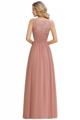 Beautiful V-neck Long Evening Dresses with soft Pleats | Sexy Sleeveless V-back Dusty Pink Womens Dress for Prom_16