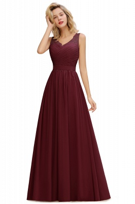 Beautiful V-neck Long Evening Dresses with soft Pleats | Sexy Sleeveless V-back Dusty Pink Womens Dress for Prom_3