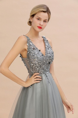 Abina | Sexy V-neck Sparkly Beaded Low Back Prom Dress with Gemstones_17