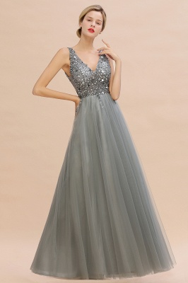 Abina | Sexy V-neck Sparkly Beaded Low Back Prom Dress with Gemstones_12
