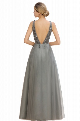 Abina | Sexy V-neck Sparkly Beaded Low Back Prom Dress with Gemstones_16
