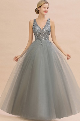 Abina | Sexy V-neck Sparkly Beaded Low Back Prom Dress with Gemstones_9