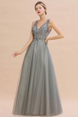Abina | Sexy V-neck Sparkly Beaded Low Back Prom Dress with Gemstones_8