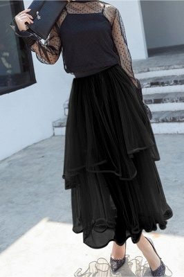 Beatrice | Black Tulle Skirt with Layers