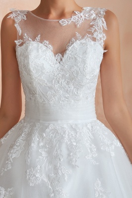 Hot Lace Ball Gown Wedding Dresses Jewel Sleeveless Button_12