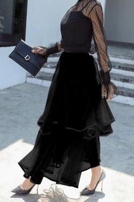 Beatrice | Black Tulle Skirt with Layers_7