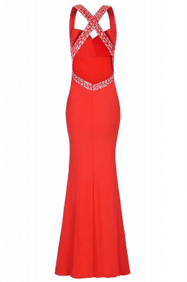 Criss-cross Back Mermaid Prom Dress with Beaded Straps_17
