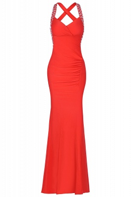 Criss-cross Back Mermaid Prom Dress with Beaded Straps_16