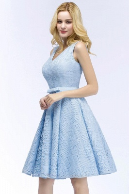 Lovely A-line Homecoming Dress Lace Knee-Length On Sale_5