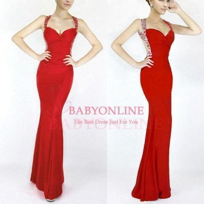 Criss-cross Back Mermaid Prom Dress with Beaded Straps_6