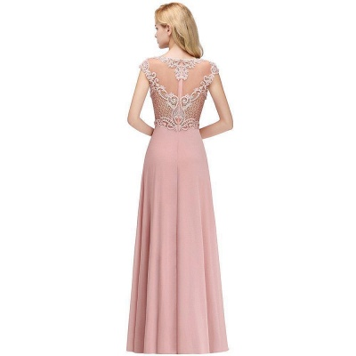 Cheap A-line Bridesmaid Dress Tulle Lace with Pearls_6