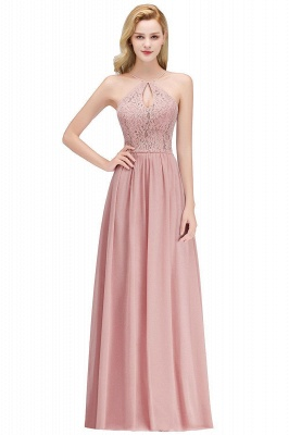 MADELEINE | A-line Keyhole Neckline Lace Top Long Spaghetti Bridesmaid Dresses_1