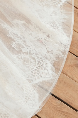 Sexy A Line Sleeveless Tulle Wedding Gowns lace Up_12