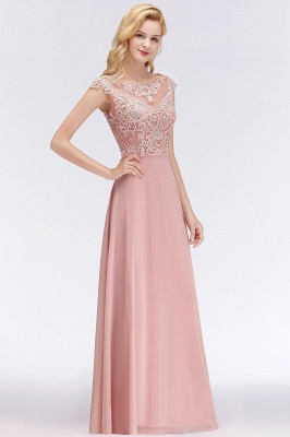 Cheap A-line Bridesmaid Dress Tulle Lace with Pearls_2