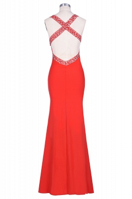 Criss-cross Back Mermaid Prom Dress with Beaded Straps_14