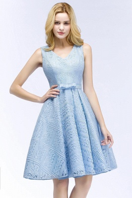 Lovely A-line Homecoming Dress Lace Knee-Length On Sale_1