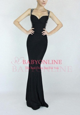 Criss-cross Back Mermaid Prom Dress with Beaded Straps_8