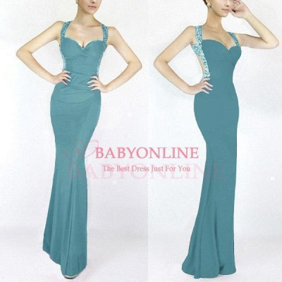 Criss-cross Back Mermaid Prom Dress with Beaded Straps_9