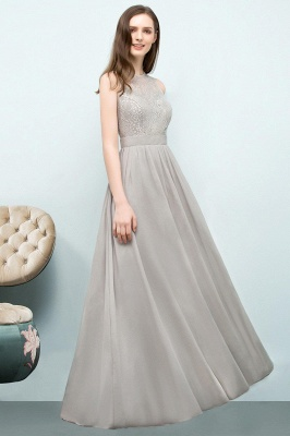 A-line Sleeveless Long Lace Top Chiffon Bridesmaid Dresses_1