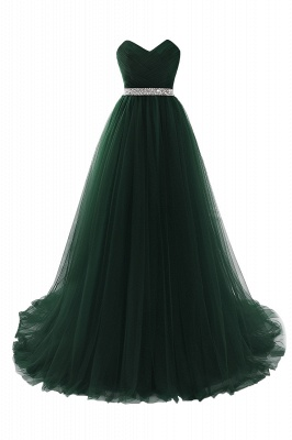 ANGELINA | A-line Sweetheart Burgundy Tulle Prom Dress With Beading_7