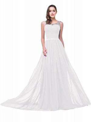AIMEE | A-line Court Train Chiffon Party Dress With  Beading_1