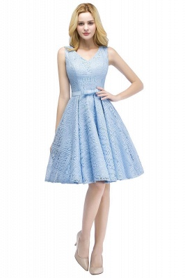 Lovely A-line Homecoming Dress Lace Knee-Length On Sale_8