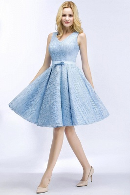 Lovely A-line Homecoming Dress Lace Knee-Length On Sale_9