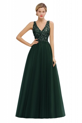 Abina | Sexy V-neck Sparkly Beaded Low Back Prom Dress with Gemstones_5
