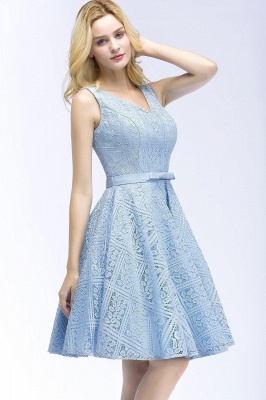 Lovely A-line Homecoming Dress Lace Knee-Length On Sale_12