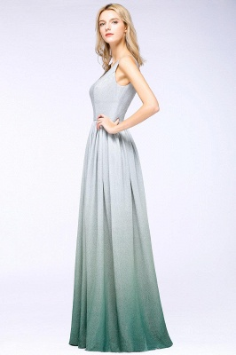 A-line Ruffles V-Neck Long Evening Dress On Sale_11