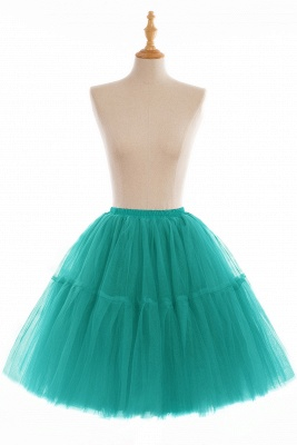 Puffy Knee-length Carnival Peticoat in Burgundy, White, Yellow, Gray, Pink, Mint Green_18