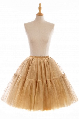 Puffy Knee-length Carnival Peticoat in Burgundy, White, Yellow, Gray, Pink, Mint Green_8