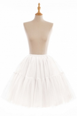 Puffy Knee-length Carnival Peticoat in Burgundy, White, Yellow, Gray, Pink, Mint Green_1