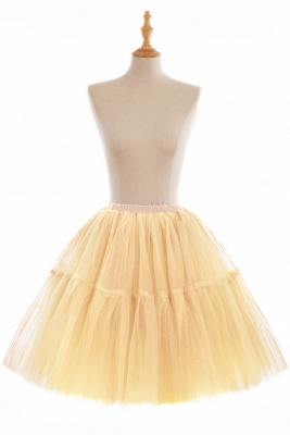 Puffy Knee-length Carnival Peticoat in Burgundy, White, Yellow, Gray, Pink, Mint Green_9